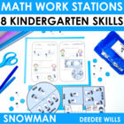 Snowman  Math Work Stations-Common Core
