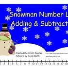 Snowman Number Line Adding &amp; Subtracting