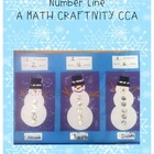 Snowman Number Line Skip Counting Craftivity-Common Core Aligned