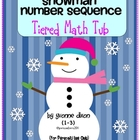 Snowman Number Sequence Tiered Math Tub