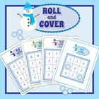 Snowman Roll and Cover Game:  Math Activities for Early Ch