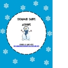 Snowman Shapes Craft and Graphing Activity