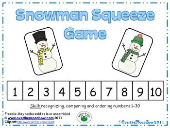 Snowman Squeeze Number Game