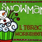 Snowman Themed Winter Literacy Worksheets