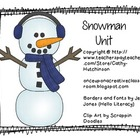 Snowman Unit for Early Elementary