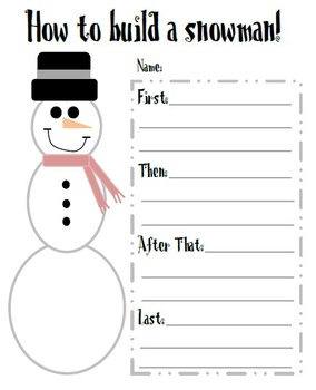 Snowman Writing Activity! FREEBIE! {Winter Themed!}