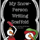Snowman Writing Scaffold