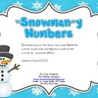 """Snowman""y Numbers Math Center FREEBIE"