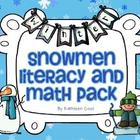 Snowmen Math and Literacy Pack