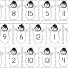 Snowmen Sequencing Numbers