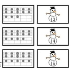 Snowmen Ten Frame Games (Numbers 1-20)