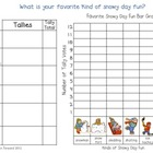 Snowy Day Fun Tally & Graph