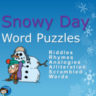 Snowy Days Word Puzzles PowerPoint