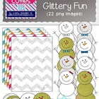 Snowy, Glittery Fun {Winter and Snowman Clipart}