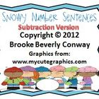 Snowy Number Sentences Freebie