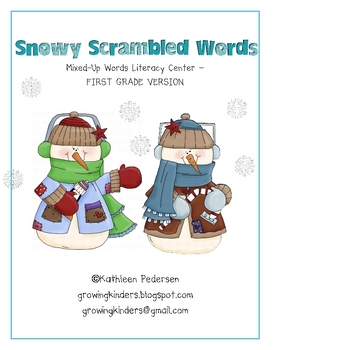 Snowy Scrambled Words - FIRST GRADE VERSION