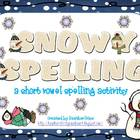 Snowy Spelling: a winter short vowel spelling activity
