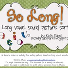 So Long! Long Vowel Picture Sort {Word Study/Word Work}