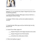 Soar to Success Emperor Penguins Up Close text features/questions