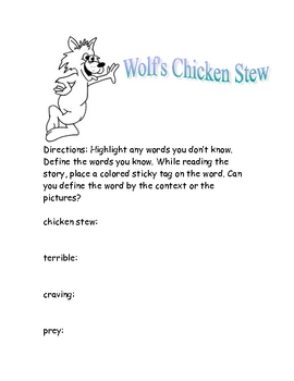 Soar to Success Wolf's Chicken Stew by Keiko Kasza