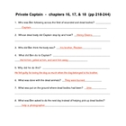 Soc. st.  Guided Reading - &quot;Private Captain&quot; (novel) chapt