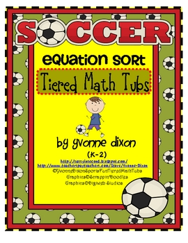Soccer Equation Sort Tiered Math Tub