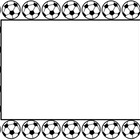 Soccer Sports Borders and Background graphics - Commercial Use