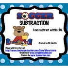Soccer Subtraction (Subtraction within 20)