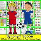 Soccer Synonyms Soccer Literacy Centers -60 Pairs of Synon