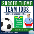 Soccer Theme Team Responsibilities