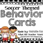 Soccer Themed Behavior Cards