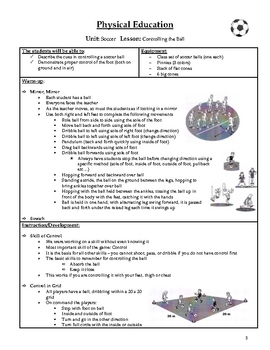 Soccer Unit for Physical Education