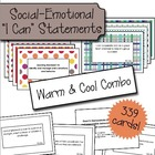"Social Emotional ""I Can"" Cards - Warm & Cool Color Combo"