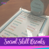 Social Skill Breaks:  Activities For The Speech Room & Classroom