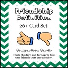 Social Skills: Friendship Definition Card Set