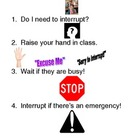 "Social Skills Lesson ""How and When to Interrupt"""