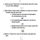 "Social Skills Lesson ""What to do if you Get a Gift You Don"