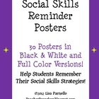 Social Skills Reminder POSTERS!!