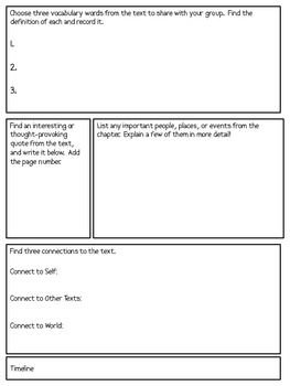 Social Studies Assignment Sheets for Any Chapter!!!
