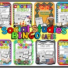 Social Studies BINGO Bundle of 8 Games