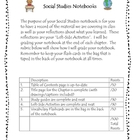 Social Studies Notebooking Rubric