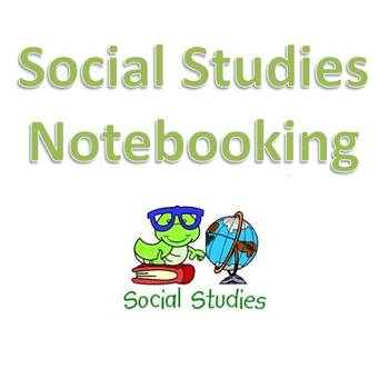Social Studies Notebooking- What is Social Studies?
