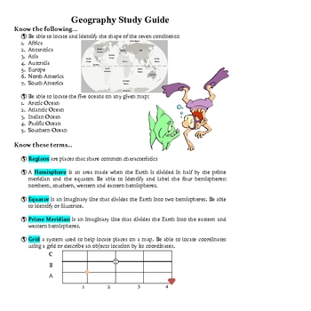 Social Studies: SOL 3.5 Geography Assessment and Guide