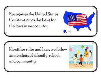 Social Studies Standards Kindergarten First Grade