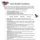 Social Studies State Booklet Guidelines for Students