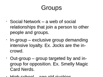 Sociology - Social Structure and Organizations