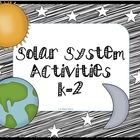Solar System Activities for Firsties