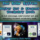 Solar System Poster Set / Student Vocabulary Book {15 post