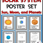 Solar System Posters Set {Sun, Moon, and Planets}