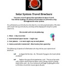 Solar System Travel Brochure - Sun, Planets, etc.